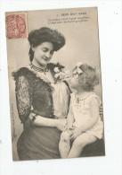 Cp , Enfants , Petite Fille , BEBE BIEN SAGE , L'orgueil D'une Mère , Voyagée 1908 , Ed : Dugas Et Cie , N° 1 - Kinder