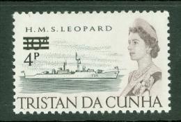 Tristan Da Cunha: 1971   QE II - Ships - Decimal Currency Surcharge  SG142    4p On 10d    MNH - Tristan Da Cunha