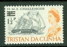 Tristan Da Cunha: 1971   QE II - Ships - Decimal Currency Surcharge  SG139    1½p On 4d    MNH - Tristan Da Cunha