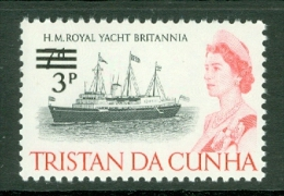 Tristan Da Cunha: 1971   QE II - Ships - Decimal Currency Surcharge  SG141    3p On 7d    MNH - Tristan Da Cunha