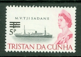Tristan Da Cunha: 1971   QE II - Ships - Decimal Currency Surcharge  SG143    5p On 1/-    MNH - Tristan Da Cunha