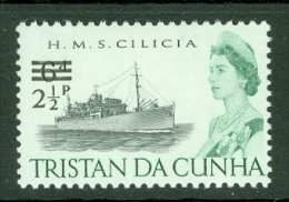 Tristan Da Cunha: 1971   QE II - Ships - Decimal Currency Surcharge  SG140    2½p On 6d    MNH - Tristan Da Cunha