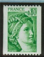 Sabine Roulette N° 1980**_0.80F Vert - 1977-81 Sabine (Gandon)