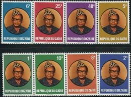 DA1311 Zaire 1978 President Mobutu 8v MNH