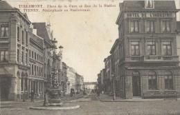 Tienen.  -    Statieplaats En Statiestraat.    Prachtkaart!  1910 Naar  Antwerpen - Tienen