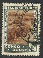 Belgian Congo, 2.40 F. 1937, Sc # 169, Used - 1923-44: Gebraucht