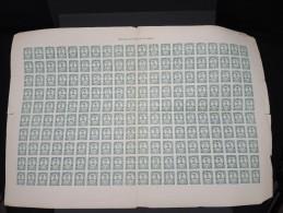 ESPAGNE - 1 Feuille Complète De 200 Ex Du N° 526 - Rare - Quelques Froissures - Lot N° 6193 - 1931-50 Neufs