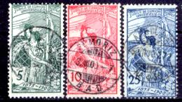 Svizzera-138 - 1900 - Unificato: N. 86/88 (o) - Privi Di Difetti Occulti. - Gebraucht