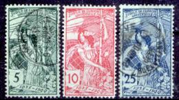 Svizzera-144 - 1900 - Unificato: N. 86/88 (sg/o) - Privi Di Difetti Occulti. - 1882-1906 Wappen, Stehende Helvetia & UPU