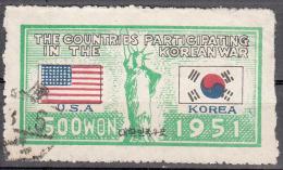 Korea- South     Scott No 132     Used      Year  1951 - Korea, South