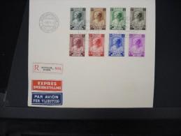 BELGIQUE- Fdc Série Complete 8 Valeurs Sur Enveloppe En 1937 LOT P4553 - FDC