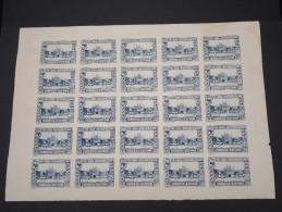 ESPAGNE - Période Royaume - Exposition De Séville 1930 - Panneau De 25 Ex - Non Dentelés - Trés Rare - Lot N° 6199 - Nuevos