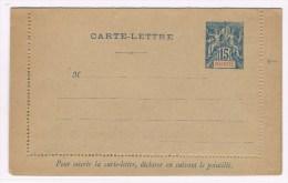 C3. Type Groupe. Mayotte. Entier Postal Neuf CL 15c Bleu Variété De Piquage à Droite= Non Perforée - Mayotte (1892-2011)