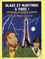 BLAKE ET MORTIMER A PARIS Exposition Au Musée De L Homme Nov 2003 Avril 2004 - Bandes Dessinées