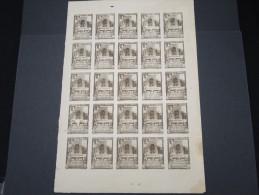 ESPAGNE - Période Royaume - Exposition De Séville 1930 - Panneau De 25 Ex - Non Dentelés - Trés Rare - Lot N° 6200 - Nuevos