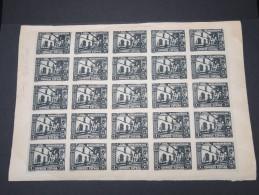 ESPAGNE - Période Royaume - Exposition De Séville 1930 - Panneau De 25 Ex - Non Dentelés - Trés Rare - Lot N° 6201 - Nuevos