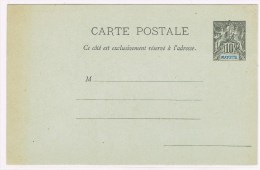 C3. Type Groupe. Mayotte. Entier Postal Neuf CP 10c - Mayotte (1892-2011)