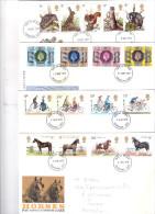 7 FDC Grande Bretagne à 0,50/pièce (2 Scans à Voir) - 1971-1980 Em. Décimales