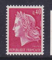 FRANCE N° 1536B 0.40 ROUGE TYPE SCHEFFER PAPIER EPAIS NEUF SANS CHARNIERE - Errors & Oddities