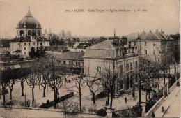 Dijon : Ecole Turgot Et Eglise Ste-Anne (Editeur Louis Venot, LV N°662) - Dijon