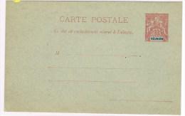 C3. Type Groupe. Réunion. Entier Postal Neuf  CP 10c Rouge - Reunion Island (1852-1975)