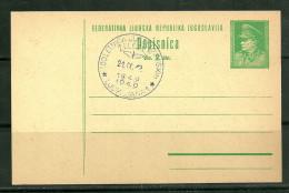 Yugoslavia Tito Special Cancelleti Used Year 1949 - Postal Stationery
