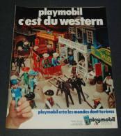 Publicité De 1978 Sur Playmobil, C'est Du Western - Collections
