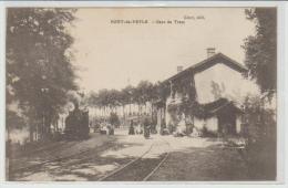 C.P.A. D UN TRAIN A LA GARE DE PONT DE VEYLE 01 - Autres Communes