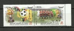 2014-Libya– African Nations Championship Football- 2 V Complete Set MNH*** - Libia