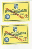 ANTICHE ETICHETTE LABEL ALLUMETTES FIAMMIFERI SPIELE MATCHS  IMPRAGNIERT - Scatole Di Fiammiferi - Etichette