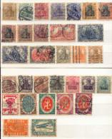 Alemania Año 1905-1920  Yvert Varios  Lote De  31 Sellos Matasellos   Y Sobrecargas   Varios - Deutschland