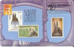 P-236 TARJETA DE ESPAÑA DE ANTONIO GAUDI DEL 01/97 Y TIRADA 6100 (SELLO-STAMP) SAGRADA FAMILIA - Sellos & Monedas