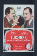 Original Old Cinema/ Movie Advertising Image - Movie: The Man Who Lost Himself - Brian Aherne, Kay Francis - Publicité Cinématographique