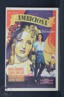 Original Old Cinema/ Movie Advertising Image - Movie: Forever Amber - Linda Darnell, Cornel Wilde, Richard Greene - Publicité Cinématographique