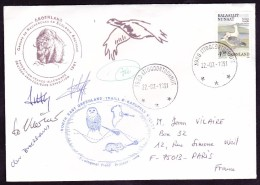 Groenland Lettre - Timbres