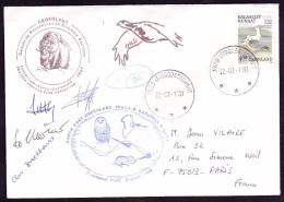 Groenland Lettre - Briefmarken