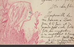 CPA:Gustave Deflin:Ecole De Nancy:Carte Autographe:Rarrisime - Illustrateurs & Photographes