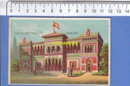 IMAGE CHROMO EXPOSITION UNIVERSELLE DE PARIS 1878 ESPAGNE ESPAGNA SPAIN - Trade Cards
