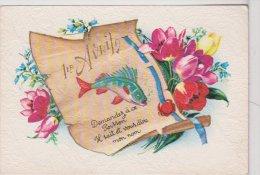 """L04d.14 -Premier Avril - Carte Gauffrée """"demandez à Ce Poisson..."""" - Photochrom N°50791 - 1er Avril - Poisson D'avril"""