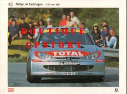 RALLYE AUTOMOBILE Du PORTUGAL - VOITURE PEUGEOT 206 - AUTO COURSE - PUBLICITE TOTAL & MICHELIN - 30x40 - Cars