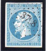 "FRANCE : PC 3798 . "" BARBONNE "" . (49) . N° 14 . TB . SIGNE . - Marcophily (detached Stamps)"