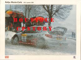 RALLYE AUTOMOBILE De MONTE CARLO - VOITURE PEUGEOT 206 - AUTO COURSE - PUBLICITE TOTAL & MICHELIN - 30x40 - Voitures (Courses)