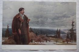 "USSR, Original Old Soviet Propaganda Poster ""Stalin In Turukhan, Siberia"" - 1952 - Propagande - Affiches"