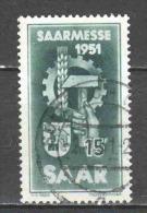 Germany Saarland 1951 Mi 306 (1) - 1947-56 Gealieerde Bezetting