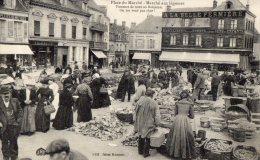 NOGENT LE RETROU PLACE DU MARCHE MARCHE AUX LEGUMES 1917  (LOT T15) - Markets