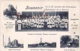 (33) Lesparre - Journée Des Patronages Catholiques Orchestre Fanfare Tambours Trompette - Carte Multivue 1913 - 2 SCANS - Lesparre Medoc
