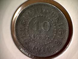 Belgique 10 Centimes 1916 - 1909-1934: Albert I