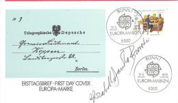 Michel # 1011 Mit Unterschrift Entwerfer Elisabeth Von Janota - Bzowski - BRD