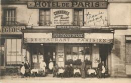 37 TOURS - DEVANTURE HOTEL DE PARIS - RESTAURANT PARISIEN - PLACE DE LA GARE  A COTE DE LA BOULANGERIE LIEGEOISE