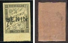 BENIN TAXE 20c YVERT N.3 - TTB SIGNE' CALVES - BDF ET PRESQUE SANS CHARNIERE - Benin (1892-1894)